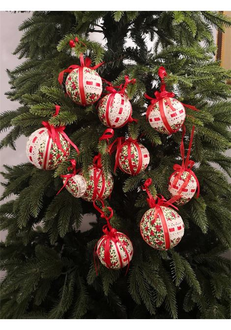 Xmas set of ten handmade xmas décor / baubles HouseOfXmas | Decorazioni natale | XMAS_SET10 BEIGE