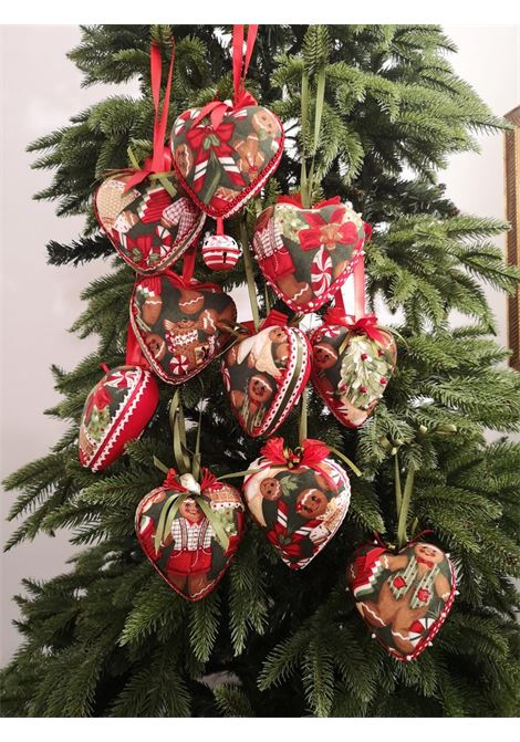 Xmas set of ten handmade Hearts ornaments HouseOfXmas | Decorazioni natale | XMAS_SET10 COOKIES