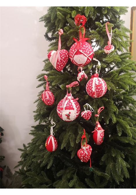 Xmas handmade set of Eleven ornaments HouseOfXmas | Decorazioni natale | XMAS_SET11 RED