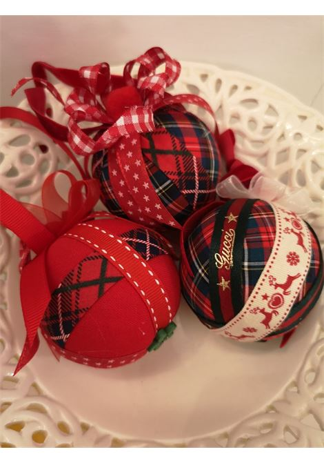 Christmas handmade set of Eleven ornaments HouseOfXmas | Decorazioni natale | XMAS_SET11 TARTAN