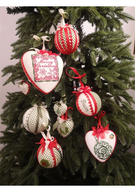 Xmas handmade set of nine ornaments HouseOfXmas | Decorazioni natale | XMAS_SET9 PIED DE POULE