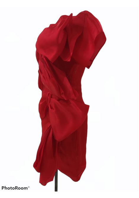 Krizia red bowes silk dress Krizia | Dresses | AT021ROSSO FIOCCHI