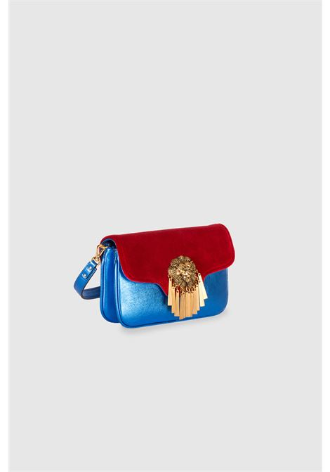 Le Deff mini blue red wonder woman cross body clutch bag  Le Deff | Bags | MINI SILVIA MULTIWONDER WOMAN