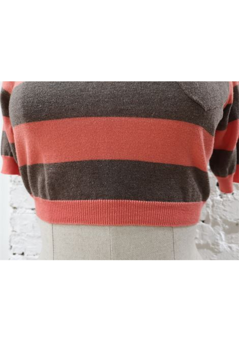 Mauro Grifoni pink brown sweater Mauro grifoni | Pull | AC02130DXSFCCEROSA