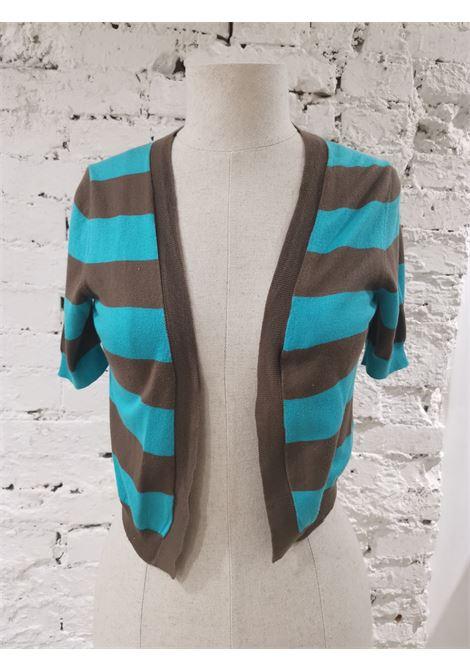 Mauro Grifoni brown turquoise cardigan - sweater Mauro grifoni | Cardigan | AC02130WXAFFMARRONE