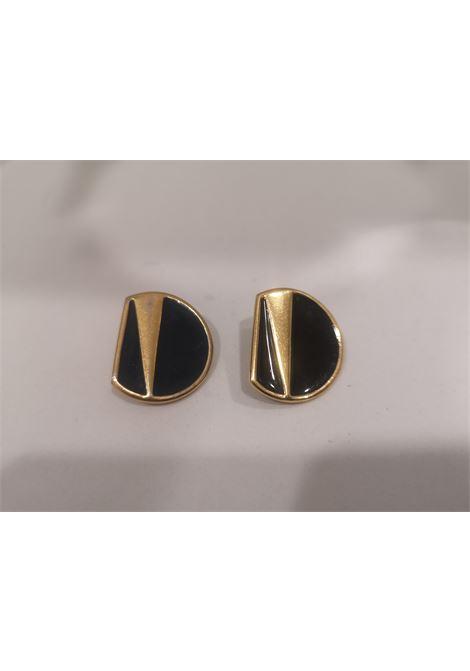Vintage Monet gold tone black earrings Monet | Orecchini | ORECCHINIORO NERO