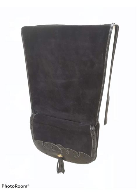 Moschino black leather suede gaucho bag Moschino | Bags | GAUCHONERA