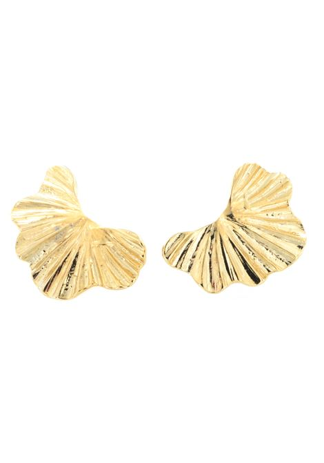 18kt gold plated baroque collection earrings  Pitimali | Earrings | 0004MEZZAFOGLIA