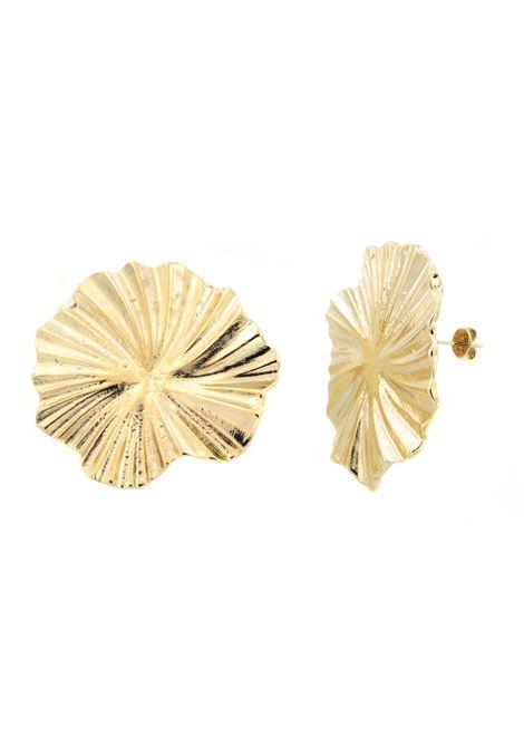 18kt gold plated baroque earrings  Pitimali | Earrings | 0005FOGLIA