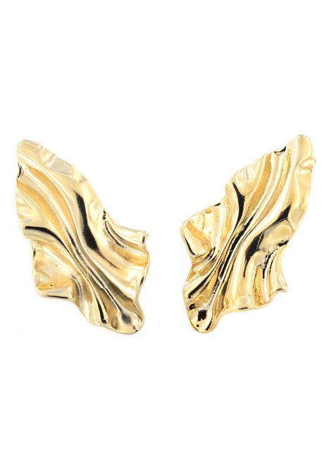 18 Kt Gold plated baroque collection earrings  Pitimali | Earrings | 0006FOGLIA LUNGA