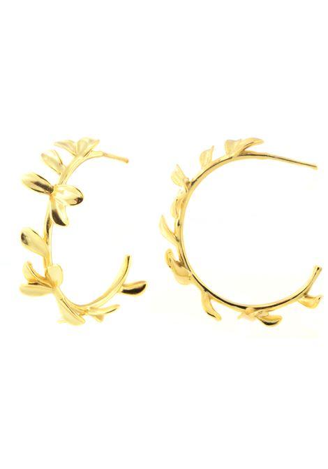 18kt gold plated hoop earrings Pitimali | Earrings | 540OFOGLIE