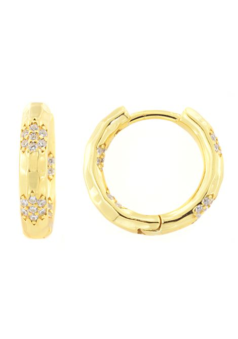18kt gold plated hoop earrings Pitimali | Orecchini | 550ORZIRCON