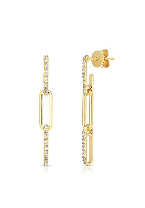 18kt gold plated silver pendant earrings  Pitimali | Earrings | 564ORROCK