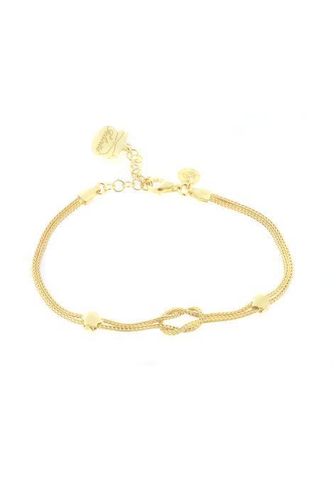 Collana con nodo in argento bagnato oro Pitimali | Collana | 581CNODO