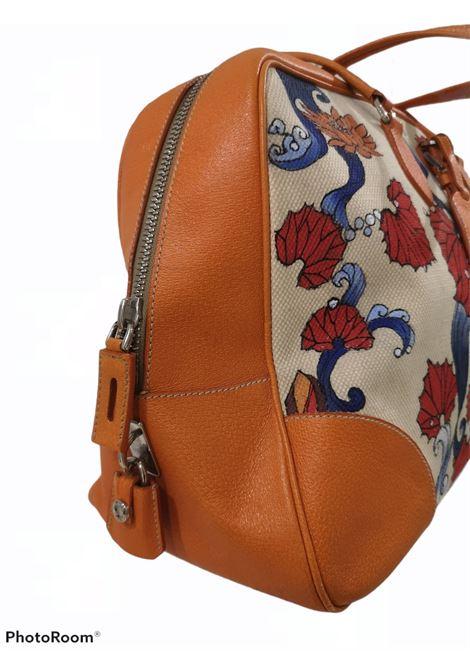 Prada orange fish painted handle shoulder bag Prada | Borsa | AT02145X0SGFDIPINTA