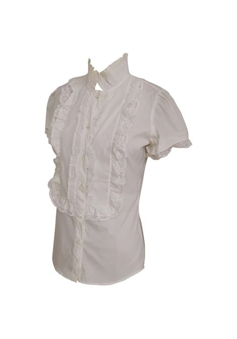 Red Valentino white shirt Red Valentino | Shirts | AC02170XSFCSMANICA CORTA BIANCO