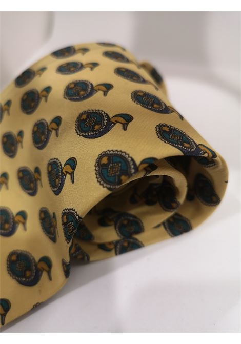 Valentino vintage light yellow ducks silk tie Valentino | Cravatta | TIE//GIALLO PAPERE