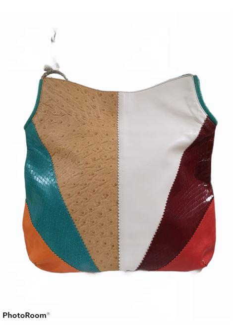 Gianni Versace multicoloured ostrich and python skin stamp shoulder bag Versace | Borsa | AT021AC350DSMULTI