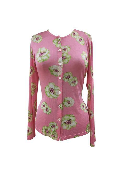Takada pink flowers shirt VIntage | Cardigan | AC02125DXSCTAKADA