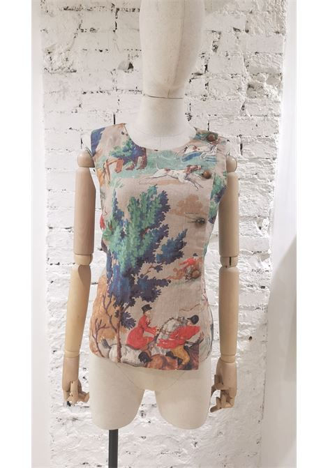 Semi Couture cotton multicoloured top / t-shirt VIntage | Tops | AC02140SAAZZCACCIA ALLA VOLPE