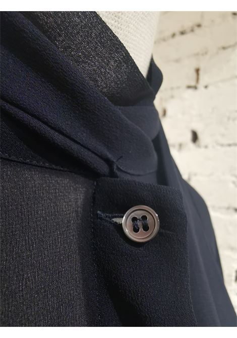 Bagutta black silk shirt VIntage | Camicia | AC02150CSXXXBLUE