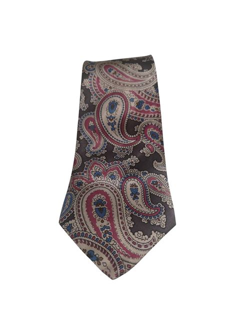 Yves Saint Laurent grey multicoloured silk tie yves saint laurent | Cravatta | TIE//MMULTI1
