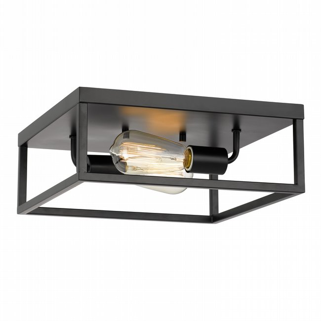 """Concord 2-Light Matte Black Finish Flush Mount 12.75"""" x12.75""""x 5"""""""