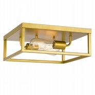"Concord 2-Light Brass Finish Flush Mount 12.75"" x12.75""x 5"""