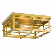 "Hanford 2-Light Painted Brass Flush Mount 13.88"" x13.88""x 5.88"""