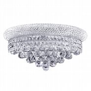 W23018C16 Empire 3 light Chrome Finish and Clear Crystal Wall Sconce