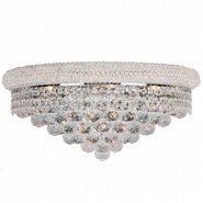 W23018C20 Empire 4 Light Chrome Finish and Clear Crystal Wall Sconce Light