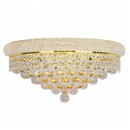 W23018G20 Empire 4 light Gold Finish and Clear Crystal Wall Sconce
