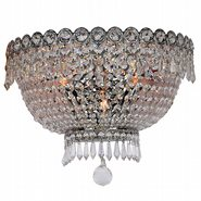 Empire 3 light Chrome Finish and Clear Crystal Wall Sconce