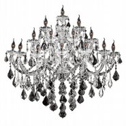 W23076C40 Maria Theresa 15 Light Chrome Finish and Clear Crystal Candle Wall Sconce Light - Discontinued