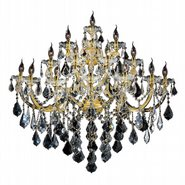 W23076G40 Maria Theresa 15 Light Gold Finish and Clear Crystal Candle Wall Sconce Light - Discontinued