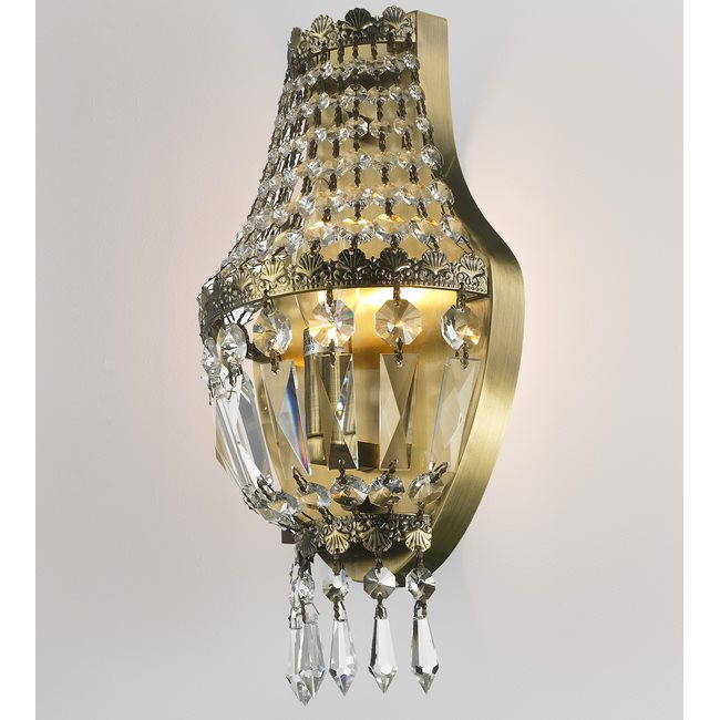 W23086AB6 Metropolitan 1 light Antique Bronze Finish with Clear Crystal Wall Sconce