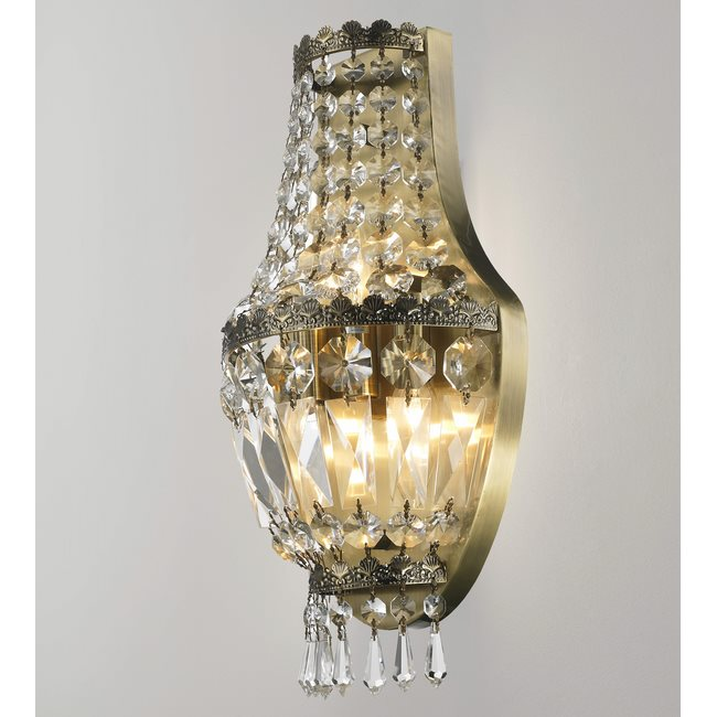 W23086AB8 Metropolitan 3 light Antique Bronze Finish with Clear Crystal Wall Sconce