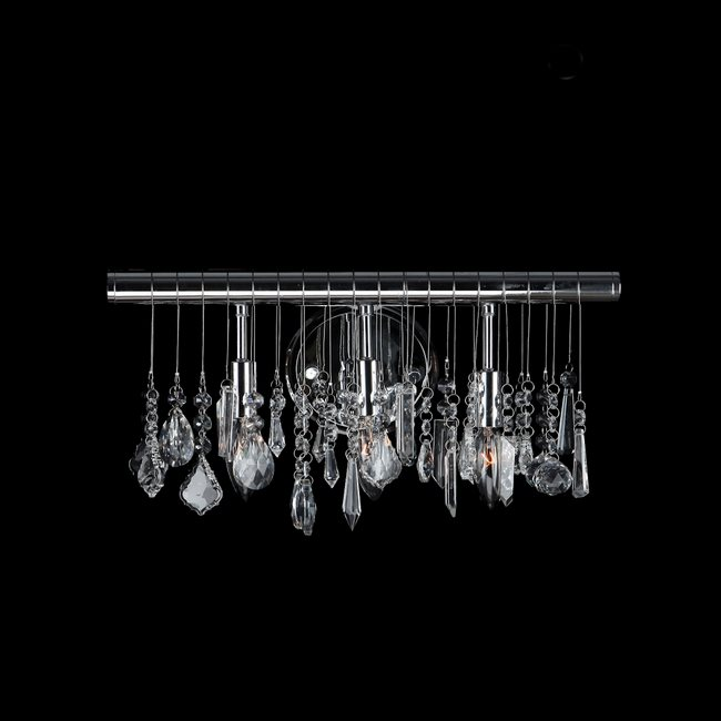 W23110C16 Nadia 3 Light Chrome Finish with Clear Crystal Wall Sconce