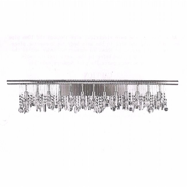 W23110C48 Nadia 13 Light Chrome Finish with Clear Crystal Wall Sconce