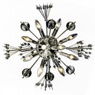 Starburst Collection 10 light Chrome Finish Crystal Sputnik Wall Sconce