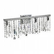 W23110C24-MC Nadia Vanity 6 Light Chrome Finish with Multi Color Crystal Wall Sconce - Discontinued