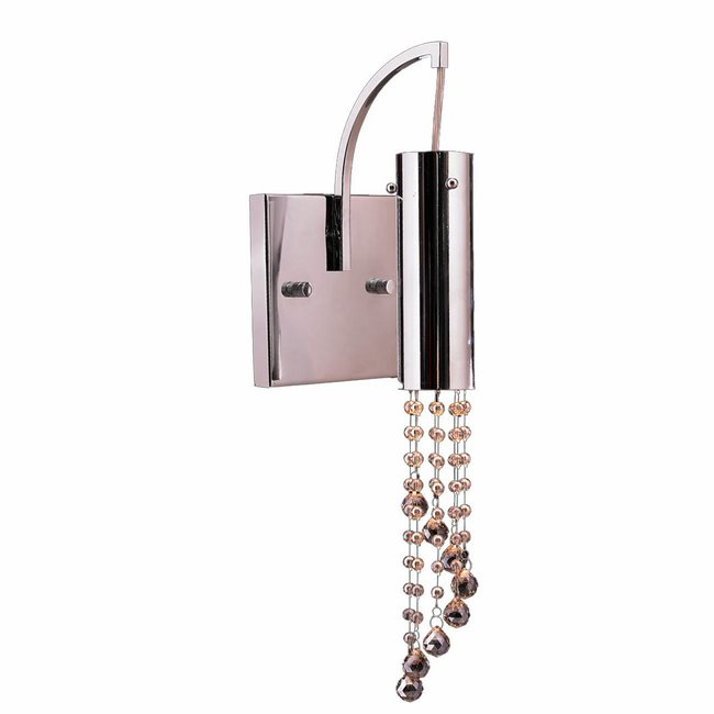 W23138C6-CL Metropolis 1 Light LED Chrome Finish and Clear Crystal Wall Sconce
