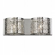 Aramis 2 Light Chrome Finish Crystal Wall Sconce Light