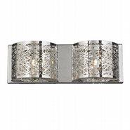 Aramis 2 Light Chrome Finish LED Crystal Wall Sconce Light