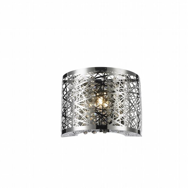 W23143C8 Aramis 1 Light Chrome Finish LED Crystal Wall Sconce Light