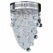 Icicle Collection 3 Light Chrome Finish with Clear Crystal Wall Sconce