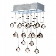 W23225C12 Icicle 3 light Chrome Finish with Clear Crystal Wall Sconce