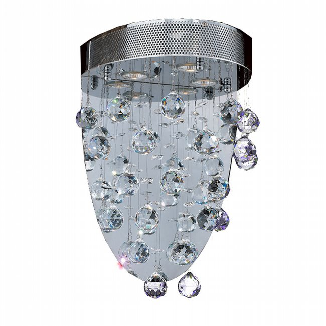 W23234C12 Icicle 3 Light Chrome Finish with Clear Crystal Wall Sconce - Discontinued