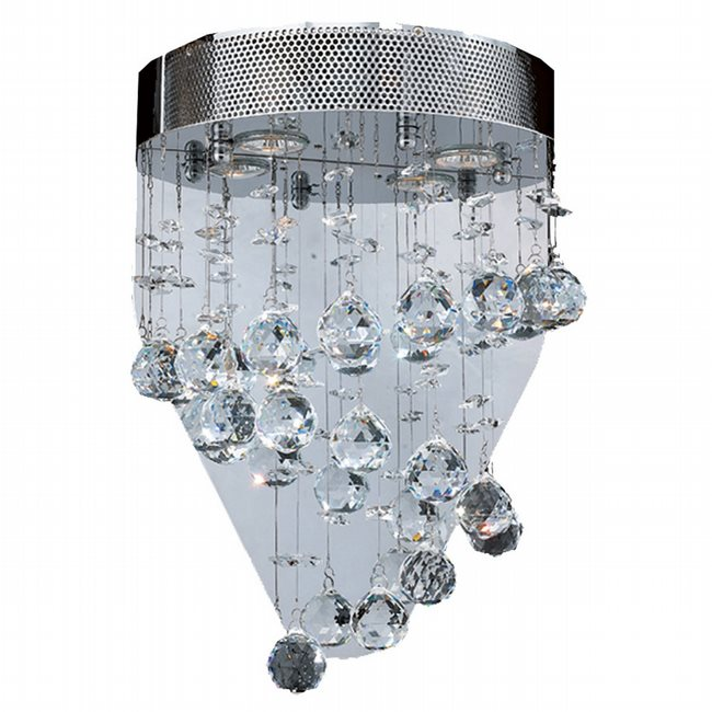 W23251C12 Helix 2 Light Chrome Finish with Clear Crystal Wall Sconce
