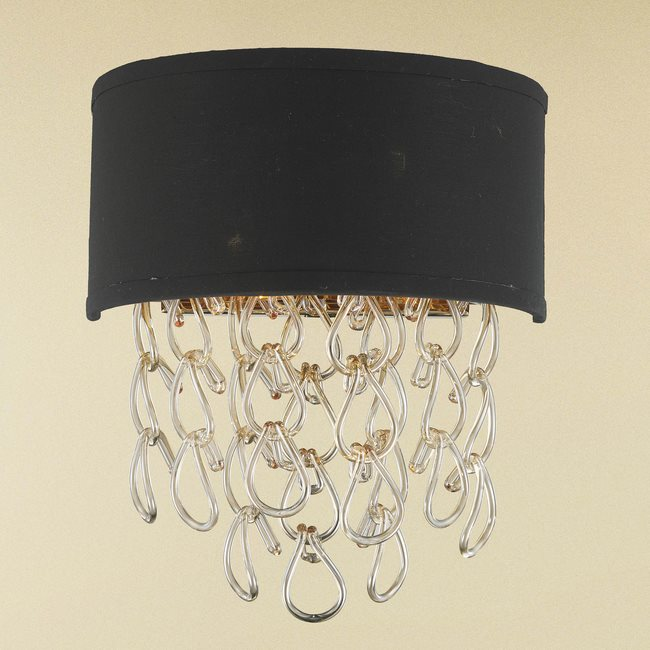 w23270cg12 Halo 2 Light Champagne Finish Wall Sconce
